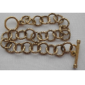 24K Gold Plated 8 inch Patera Medium Twisted Link Chain
